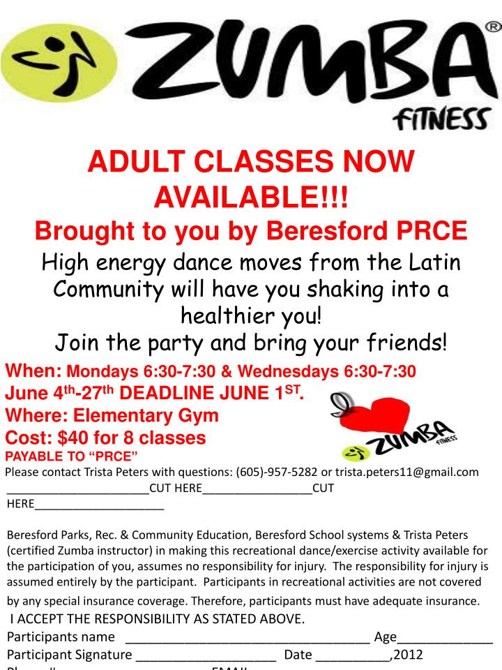 ADULT CLASSES NOW AVAILABLE!!!