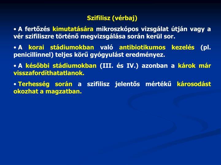 Szifilisz (vérbaj)