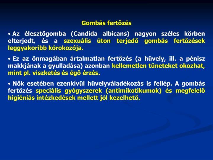 Gombás fertőzés