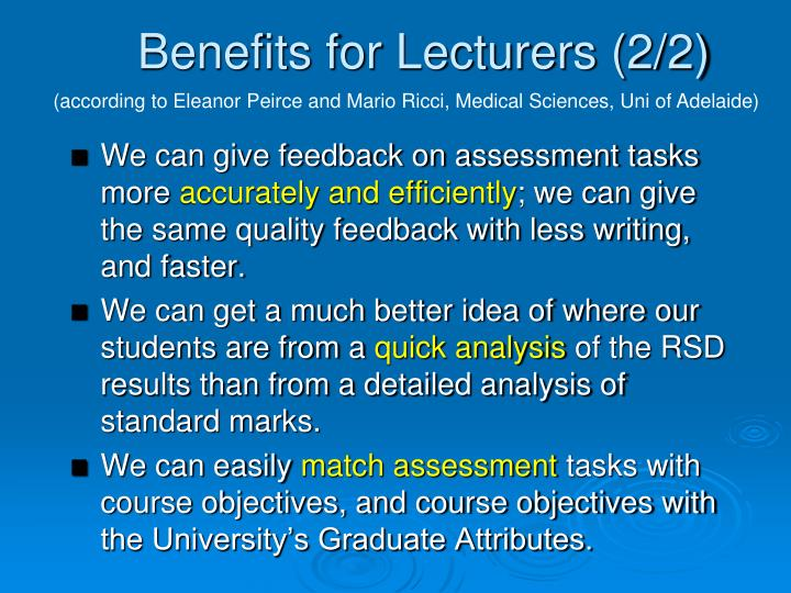 Benefits for Lecturers (2/2)