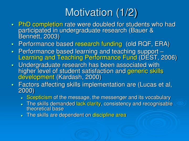 Motivation (1/2)