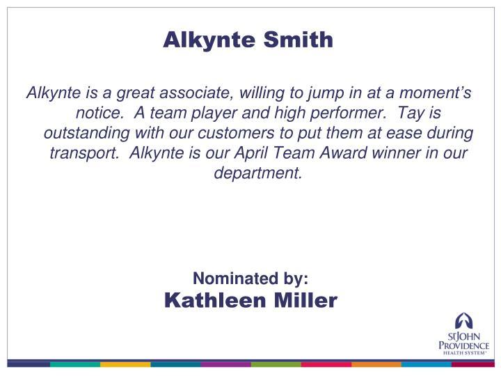 Alkynte Smith