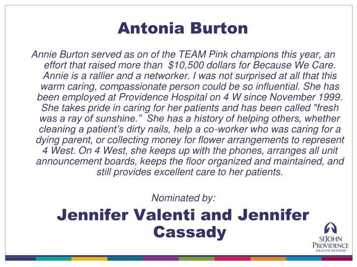 Antonia Burton