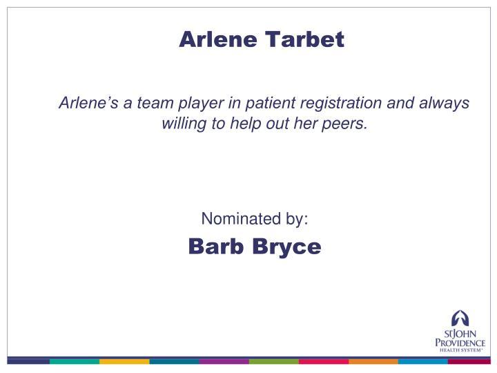 Arlene Tarbet