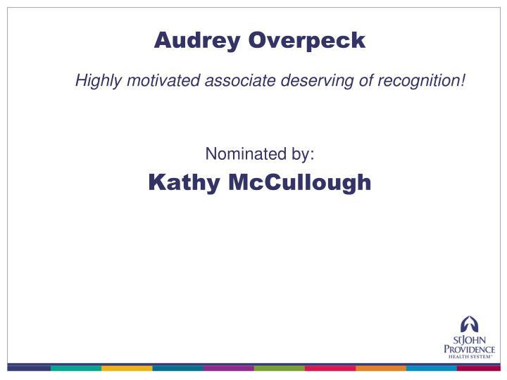 Audrey Overpeck