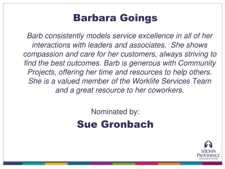 Barbara Goings