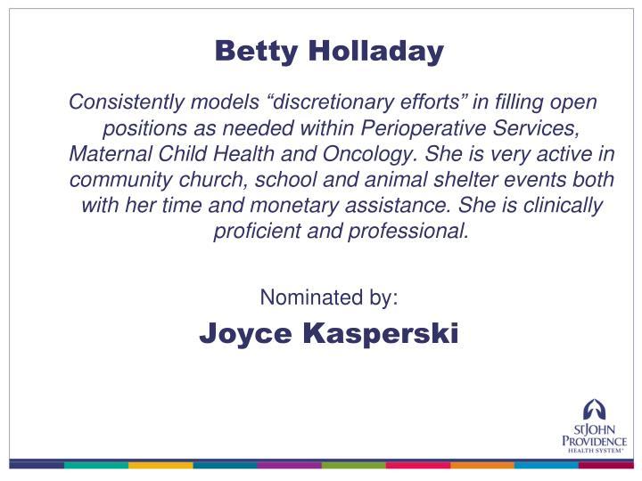 Betty Holladay