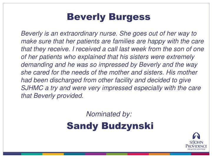 Beverly Burgess