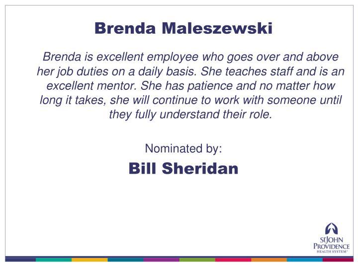 Brenda Maleszewski