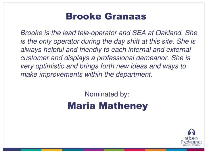 Brooke Granaas