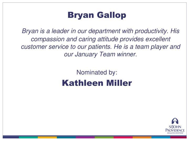 Bryan Gallop