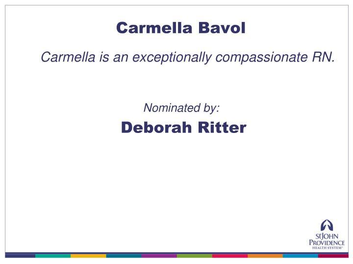 Carmella Bavol