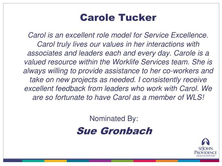 Carole Tucker