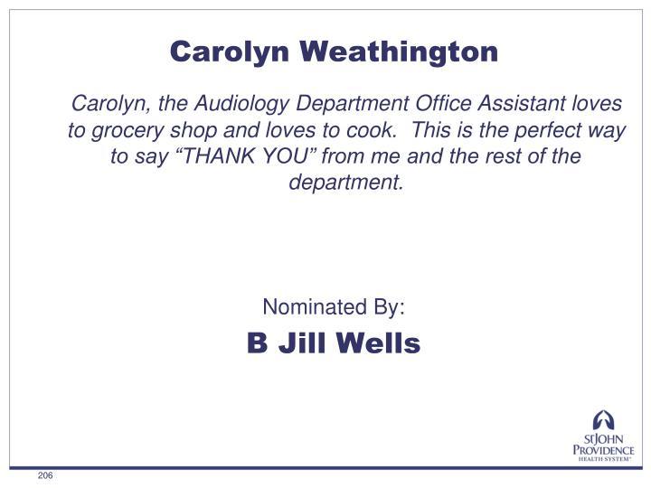 Carolyn Weathington