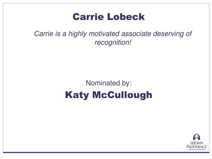 Carrie Lobeck