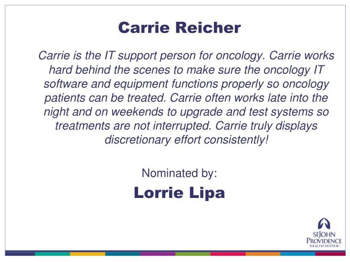 Carrie Reicher