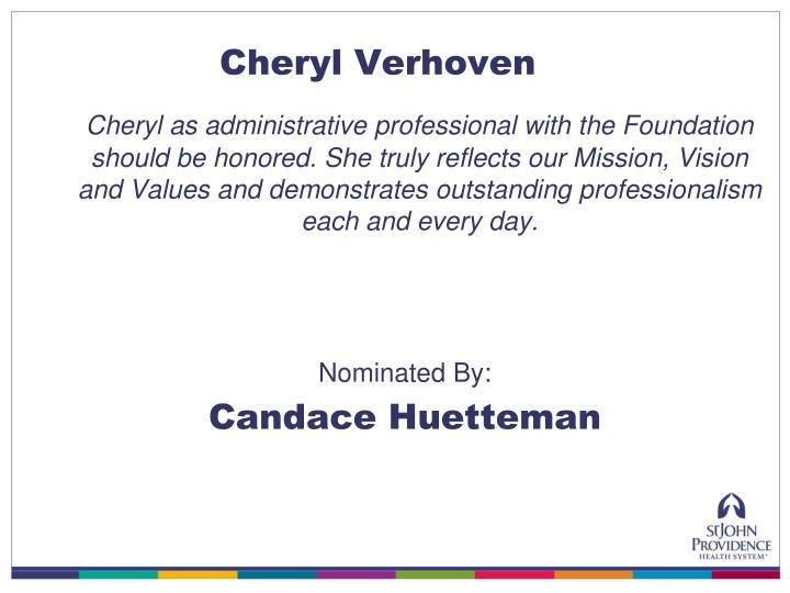 Cheryl Verhoven