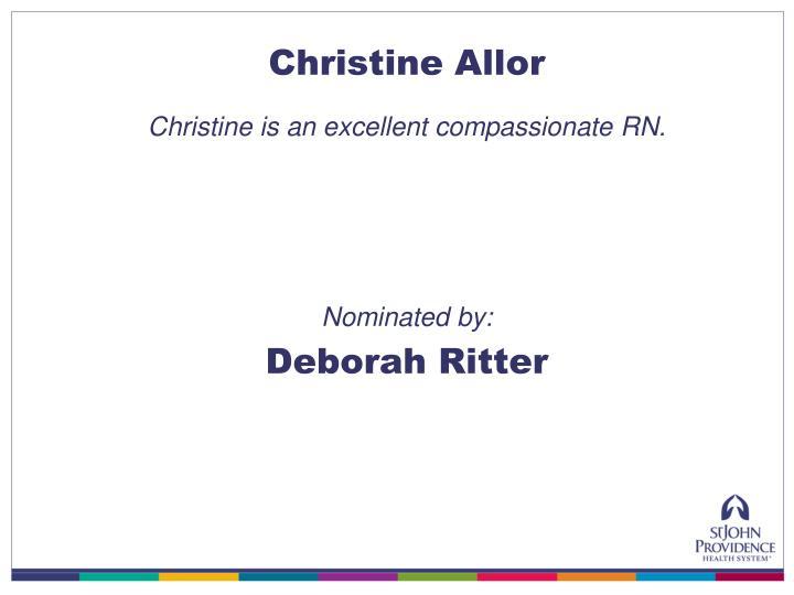 Christine Allor