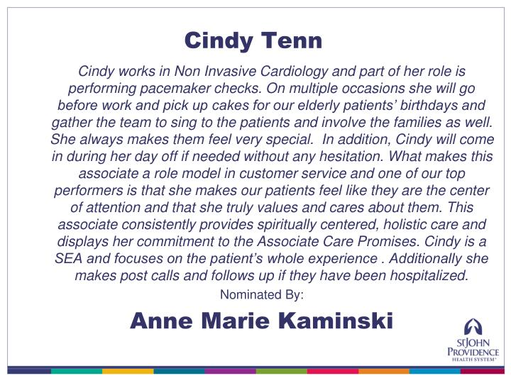 Cindy Tenn