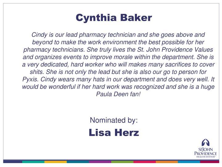 Cynthia Baker