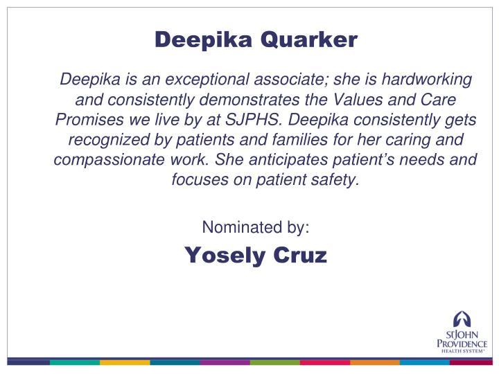 Deepika Quarker