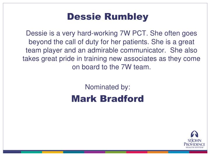 Dessie Rumbley