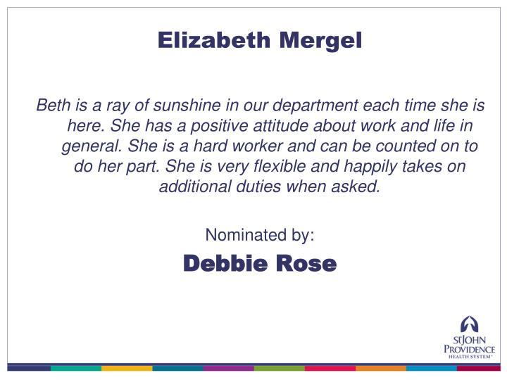 Elizabeth Mergel
