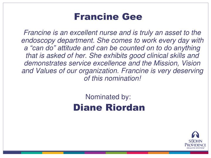 Francine Gee