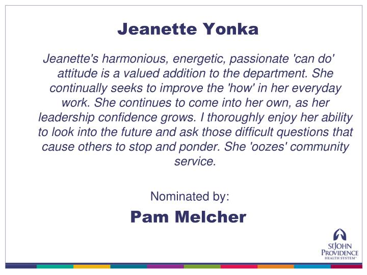 Jeanette Yonka