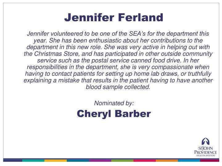 Jennifer Ferland