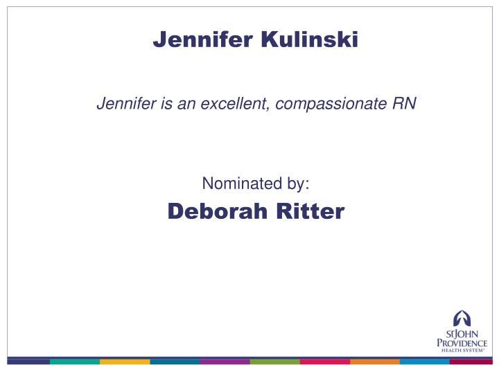 Jennifer Kulinski
