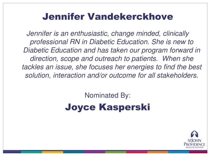 Jennifer Vandekerckhove