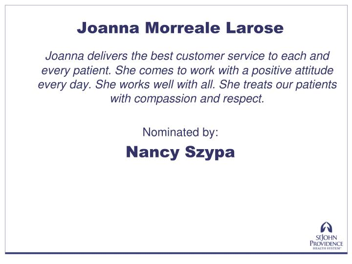 Joanna Morreale Larose