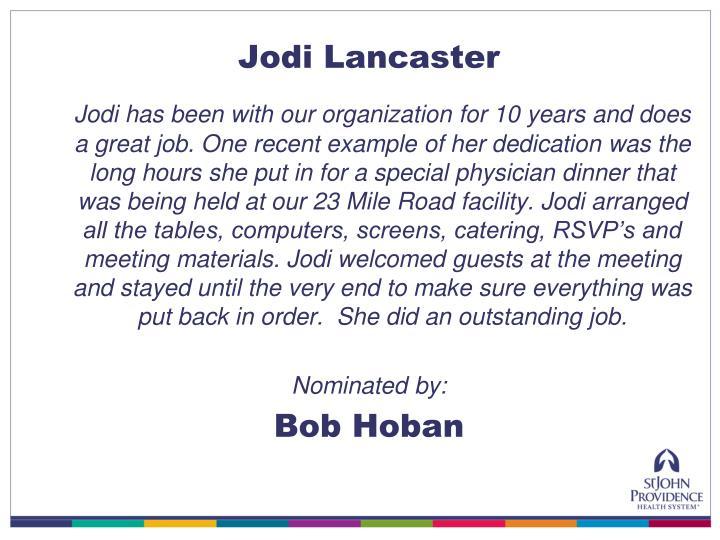 Jodi Lancaster