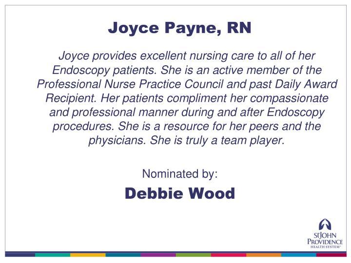 Joyce Payne, RN