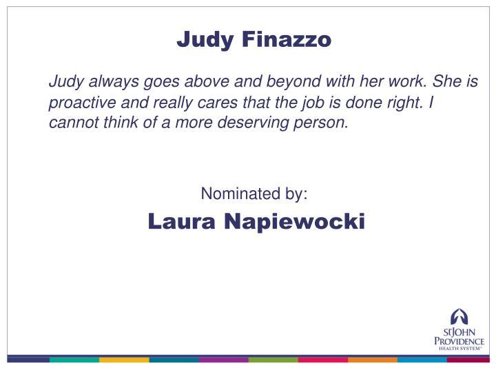 Judy Finazzo