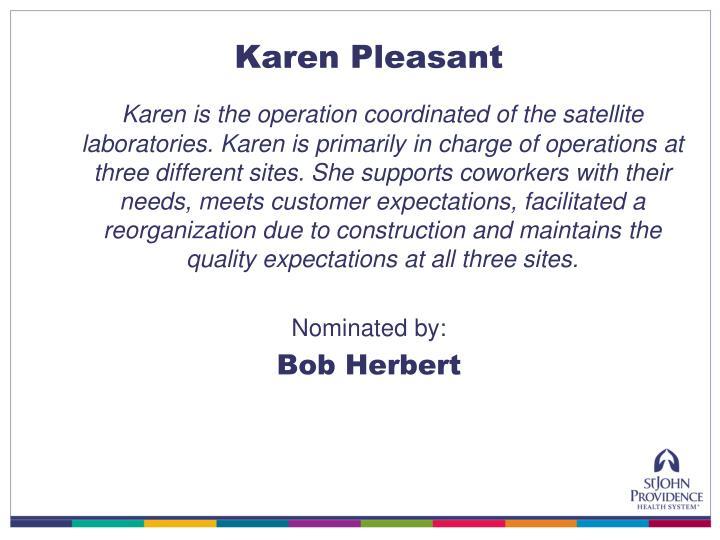 Karen Pleasant