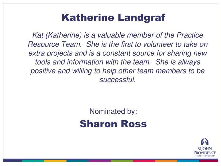 Katherine Landgraf