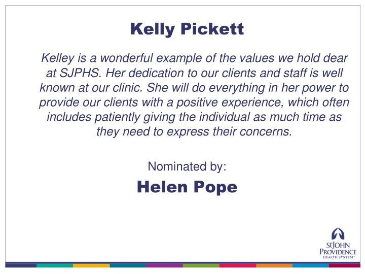 Kelly Pickett