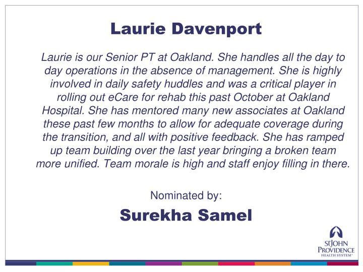 Laurie Davenport