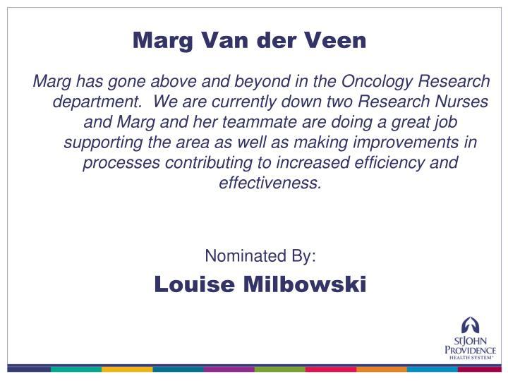 Marg Van der Veen