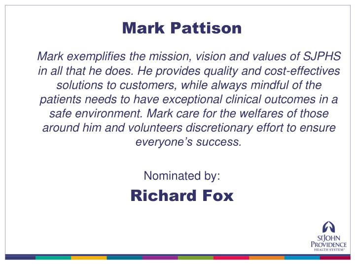 Mark Pattison