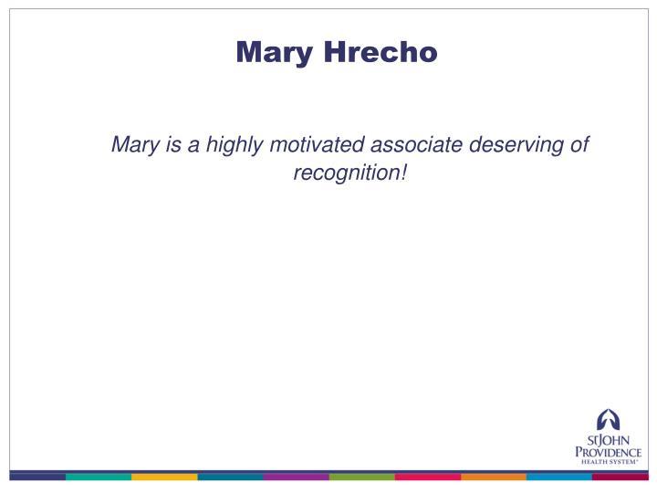 Mary Hrecho