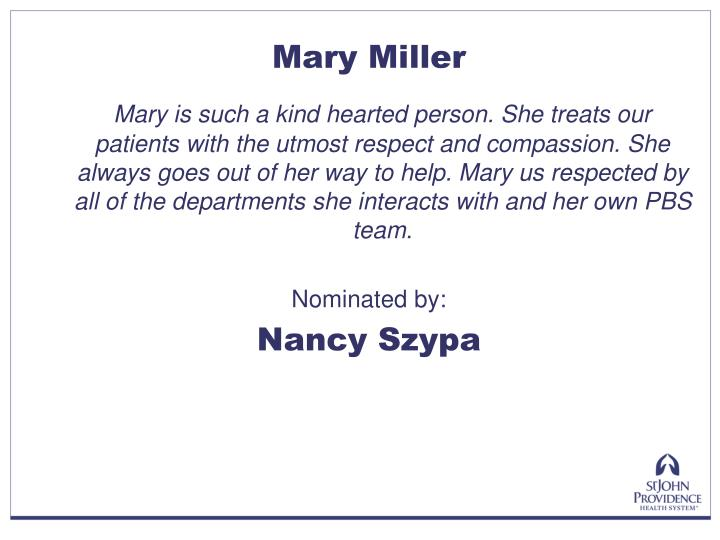 Mary Miller