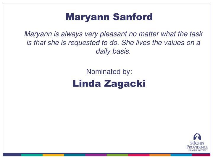 Maryann Sanford