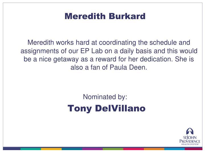 Meredith Burkard