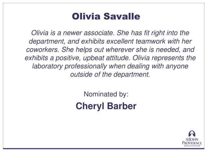Olivia Savalle