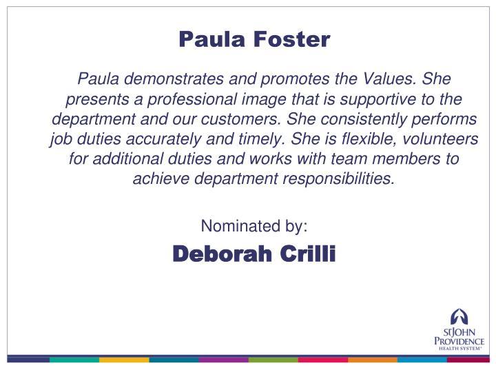 Paula Foster