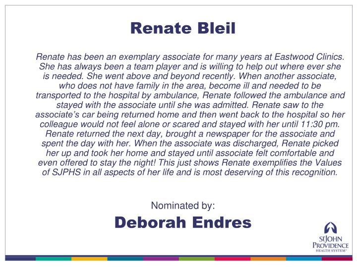 Renate Bleil