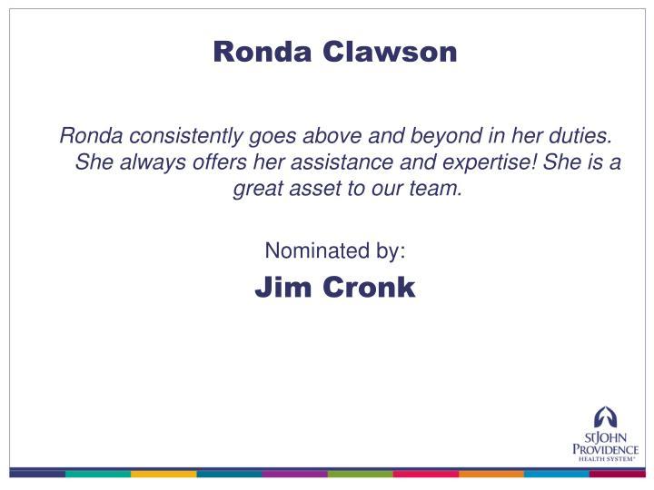 Ronda Clawson